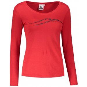 Dámské triko s dlouhým rukávem ALTISPORT ALW001169 ČERVENÁ