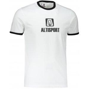 Pánské triko ALTISPORT ALM006131 BÍLÁ