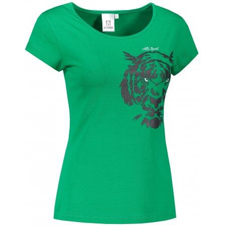 Dámské triko ALTISPORT ALW004122 STŘEDNĚ ZELENÁ