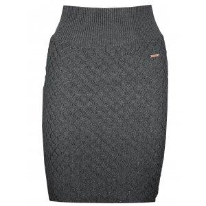 Dámská sukně KIXMI KERSTIN TMAVĚ ŠEDÝ MELÍR