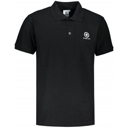 Pánské triko s límečkem ALTISPORT ALM031203 ČERNÁ