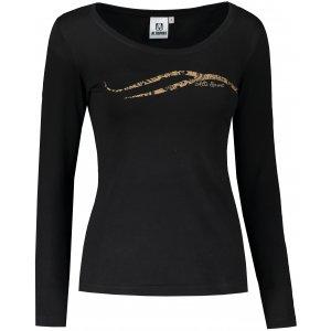 Dámské triko s dlouhým rukávem ALTISPORT ALW001169 ČERNÁ