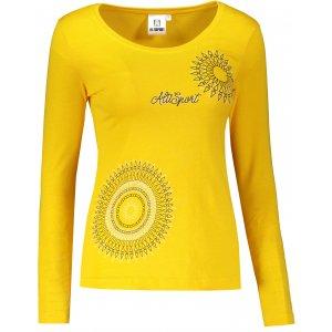 Dámské triko s dlouhým rukávem ALTISPORT ALW024169 ŽLUTÁ