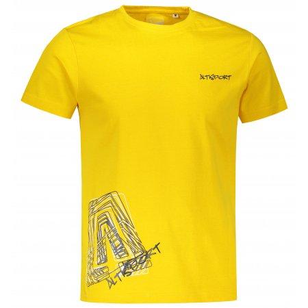 Pánské triko ALTISPORT ALM021F29 ŽLUTÁ