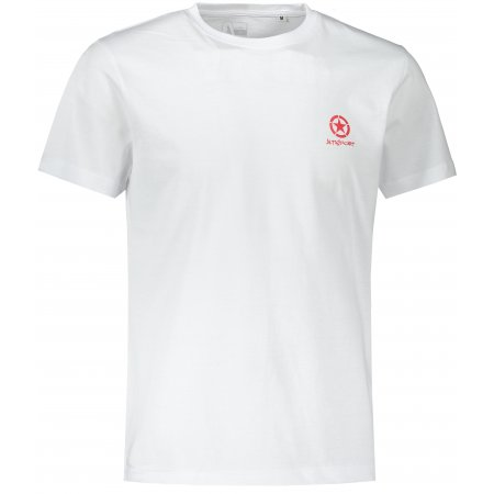 Pánské triko ALTISPORT ALM031F29 BÍLOČERVENÁ