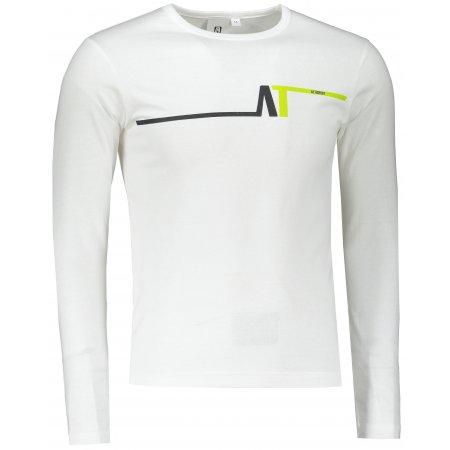 Pánské triko s dlouhým rukávem ALTISPORT ALM037119 BÍLOZELENÁ