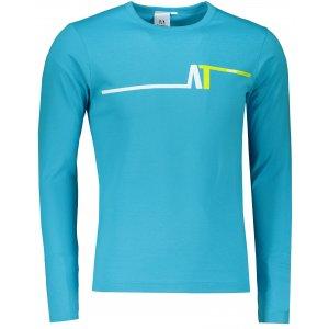 Pánské triko s dlouhým rukávem ALTISPORT ALM037119 TYRKYSOVÁ