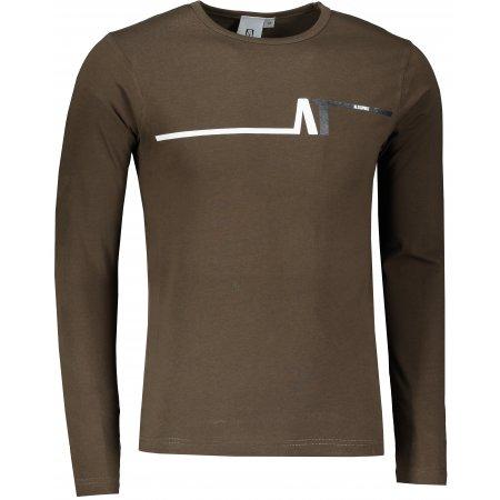 Pánské triko s dlouhým rukávem ALTISPORT ALM037119 ARMY