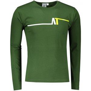 Pánské triko s dlouhým rukávem ALTISPORT ALM037119 LAHVOVĚ ZELENÁ