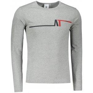 Pánské triko s dlouhým rukávem ALTISPORT ALM037119 TMAVĚ ŠEDÝ MELÍR