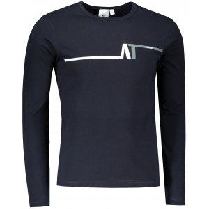 Pánské triko s dlouhým rukávem ALTISPORT ALM037119 NÁMOŘNÍ MODRÁ
