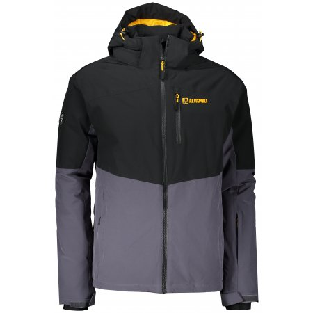 Pánská lyžařská bunda ALTISPORT BETIM TMAVĚ ŠEDÁ