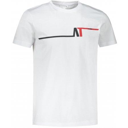 Pánské triko ALTISPORT ALM037129 BÍLOČERVENÁ
