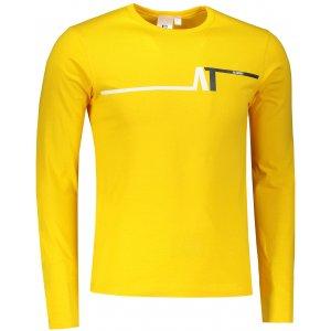 Pánské triko s dlouhým rukávem ALTISPORT ALM037119 ŽLUTÁ