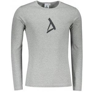 Pánské triko ALTISPORT ALM002119 TMAVĚ ŠEDÝ MELÍR