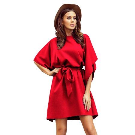 Dámské šaty NUMOCO A287-3 ČERVENÁ