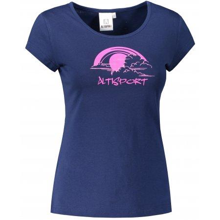 Dámské triko ALTISPORT ALW044122 PŮLNOČNÍ MODRÁ