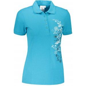Dámské triko s límečkem ALTISPORT ALW029210 TYRKYSOVÁ