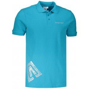 Pánské triko s límečkem ALTISPORT ALM013203 TYRKYSOVÁ