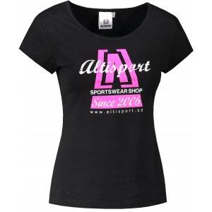 Dámské triko ALTISPORT ALW047122 ČERNORŮŽOVÁ