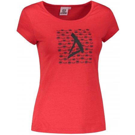 Dámské triko ALTISPORT ALW040122 ČERVENÁ