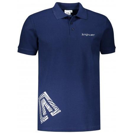 Pánské triko s límečkem ALTISPORT ALM013203 PŮLNOČNÍ MODRÁ