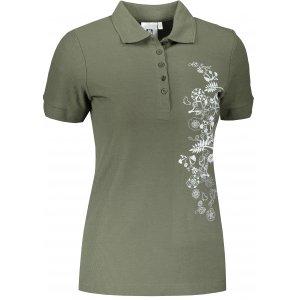 Dámské triko s límečkem ALTISPORT ALW029210 KHAKI