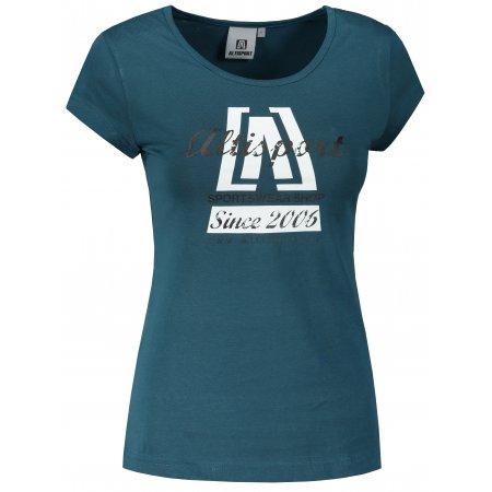 Dámské triko ALTISPORT ALW047122 PETROLEJOVÁ