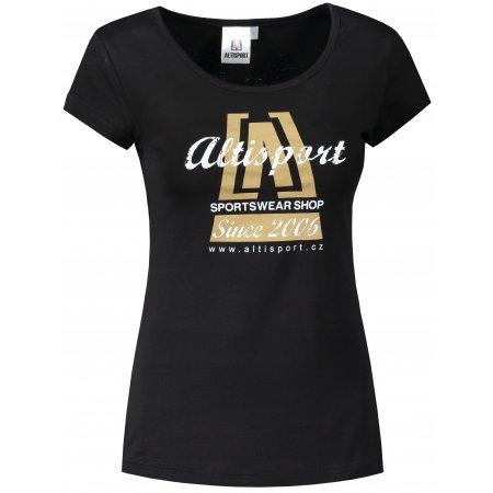 Dámské triko ALTISPORT ALW047122 ČERNOZLATÁ