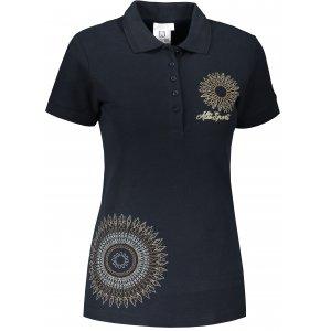Dámské triko s límečkem ALTISPORT ALW024210 NÁMOŘNÍ MODRÁ
