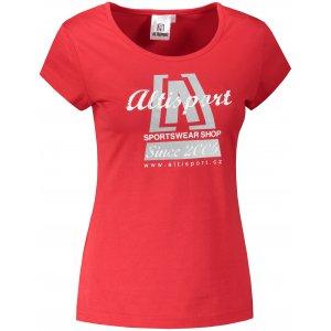 Dámské triko ALTISPORT ALW047122 ČERVENÁ