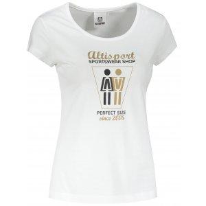 Dámské triko ALTISPORT ALW049122 BÍLÁ