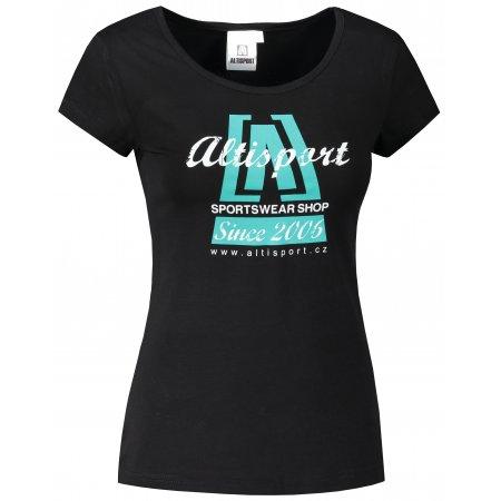 Dámské triko ALTISPORT ALW047122 ČERNOMODRÁ