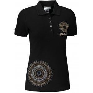 Dámské triko s límečkem ALTISPORT ALW024210 ČERNOZLATÁ