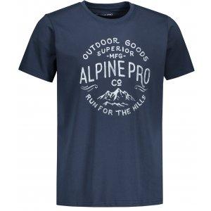 Pánské triko ALPINE PRO UNEG 9 MTST578 TMAVĚ MODRÁ