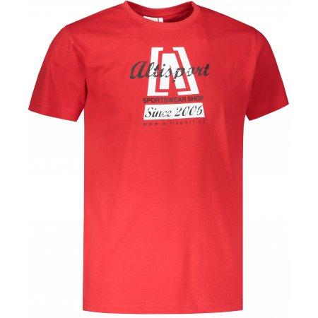 Pánské triko ALTISPORT ALM047129 ČERVENÁ