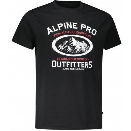 Pánské triko ALPINE PRO WENNOR MTST658 ČERNÁ