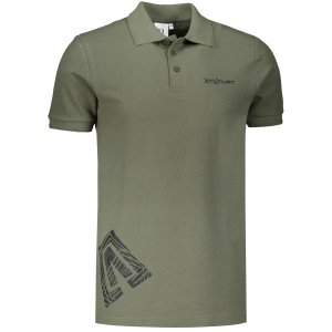 Pánské triko s límečkem ALTISPORT ALM013203 KHAKI