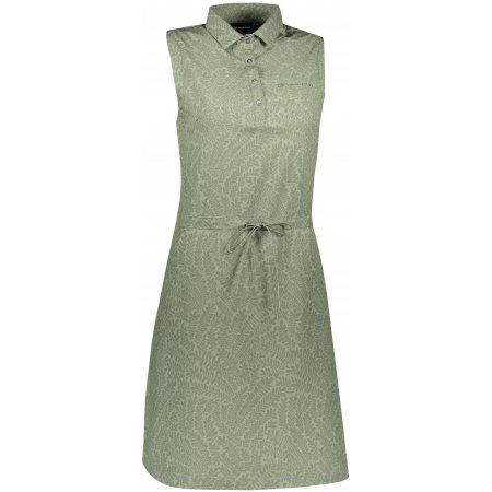 Dámské šaty ALPINE PRO PATA 2 LSKT284 ZELENÁ