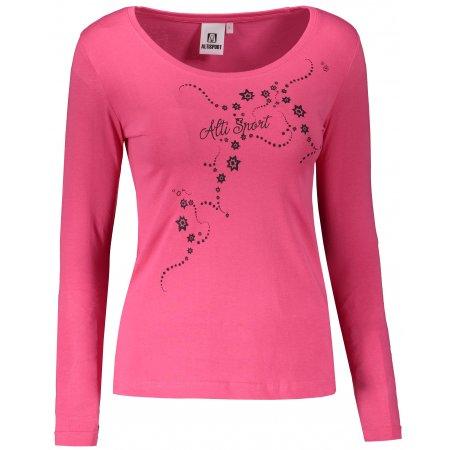 Dámské triko s dlouhým rukávem ALTISPORT ALW009169 MALINOVÁ