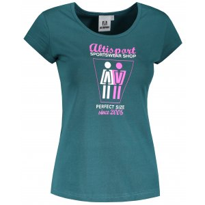 Dámské triko ALTISPORT ALW049122 PETROLEJOVÁ