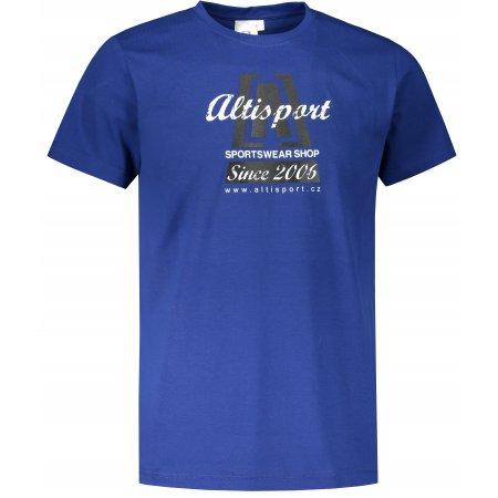 Pánské triko ALTISPORT ALM047129 KRÁLOVSKÁ MODRÁ