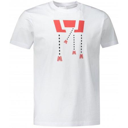Pánské triko ALTISPORT ALM048129 BÍLÁ