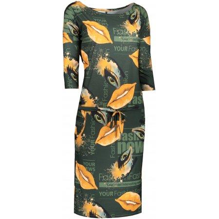 Dámské šaty NUMOCO A13-123 ZELENÁ