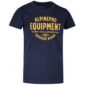 Dětské triko ALPINE PRO DENNO KTST357 TMAVĚ MODRÁ