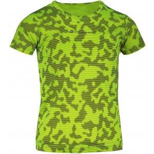 Dětské funkční triko ALPINE PRO HOTO 2 KTST162 SVÍTIVĚ ZELENÁ