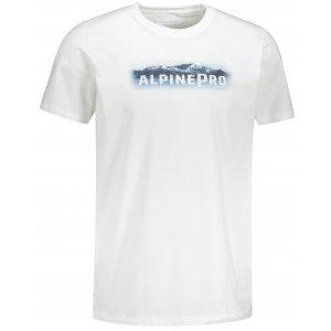 Pánské triko ALPINE PRO UNEG 9 MTST578 BÍLÁ POTISK