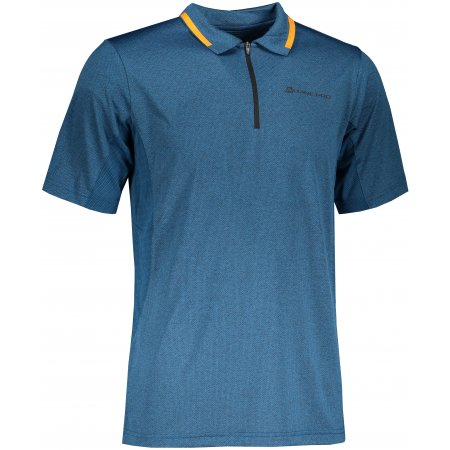 Pánské funkční triko s límečkem ALPINE PRO ISTAS 4 MTST576 MODRÁ