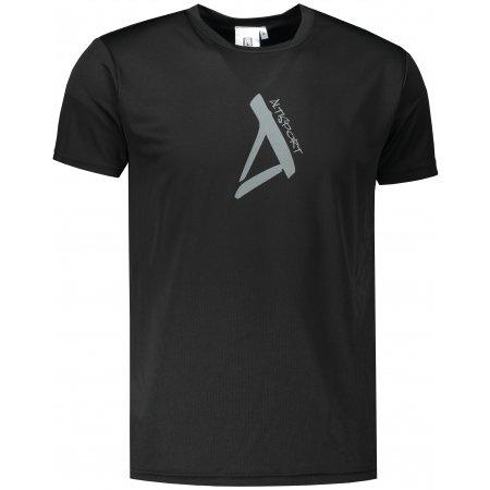 Pánské funkční triko ALTISPORT ALM014124 ČERNÁ