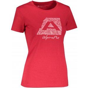 Dámské triko ALPINE PRO UNEGA 8 LTST712 ČERVENÁ